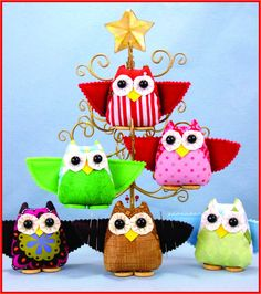 "If ""Who Knew"" looks familiar, it's because it is a redesign of a sewing pattern we published in the 1990's that you can sew up as a cute and functional 3.5"" tall owl pincushion with wings that act as a needle case, or make a few sweet ornaments."