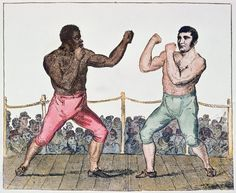 Tom Molineaux versus Tom Cribb September 1811 at Thistleton England by English School Sports Art, Vintage Prints, Black History, Vignettes, American History, Find Art, Framed Artwork, Giclee Print, England