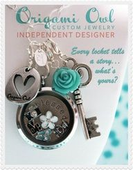 www.facebook.com/storycharms www.tammyscharms.origamiowl.com Origami owl is an exciting new line of custom jewelry specializing in Living Lockets. Each one is custom designed by you and tells YOUR STORY! MY ID# is 25523