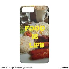 Shop Food is LIFE phone case created by Grafixx. Food Iphone Cases, Iphone Case Covers, New Recipes, Create Yourself, Life
