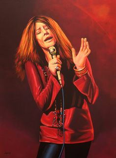 'Janis Joplin painting ' by Paul Meijering on artflakes.com as poster or art print $20.79