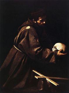 Caravaggio - San Francesco in meditazione - 1606