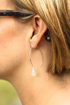 Silver Earrings Long Silver Earrings by SarahCornwellJewelry