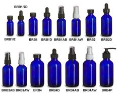 Specialty Bottle - Cobalt Blue Boston Round Glass Bottles