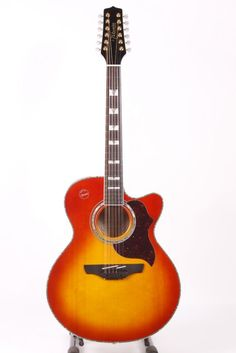 Used Takamine G Jumbo Eg523cdx12 12-string Acoustic-electric Guitar Honey Burst 886830697883