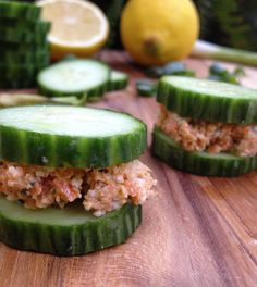 Carrot Hemp Seed Pate on Cucumber Rounds — Feasting on Fruit