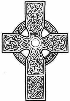 tattoo cross looks like stained glass | Celtic cross tattoo stencil 2 (click for full size)