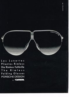 1985 Porsche Carrera Lunettes De Soleil Vintage, Porsche Carrera,  Publicités Vendanges, Monocles, c61f809118e3