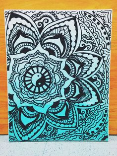 Mandala Canvas Painting by CanvasesNCrafts on Etsy