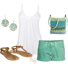 """""""summer breeze"""" by fluffof5 on Polyvore  Love those earrings"""