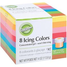 Wilton .5 oz. Icing Colors, Assorted Colors 8 ct. 601-5577