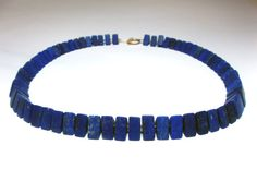 Beautiful Lapis lazuli necklace by schmuckbewusst on Etsy