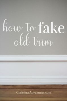 This easy DIY method shows how to match and fake old trim.  This can be used to add character to a new home, or to match existing old trim in an older home.