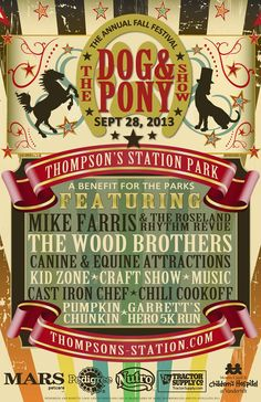 dog & pony show poster - Google Search