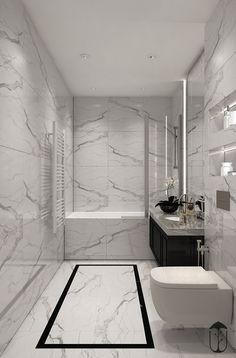 Emily Henderson bathroom trends 2019 modern bathroom with modern m… – Marble Bathroom Dreams