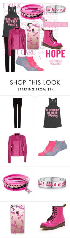 """🎗What I Wear Pink For🎗"" by taoptimist ❤ liked on Polyvore featuring 7 For All Mankind, C'N'C, Under Armour, INC International Concepts, Avon, Casetify, Dr. Martens and IWearPinkFor"