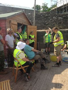 Ty Mawr Lime offered training and advice all week.
