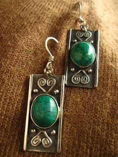 killari: ARETES DE PLATA Ethnic Jewelry, Metal Jewelry, Boho Jewelry, Jewelery, Silver Jewelry, Jewelry Accessories, Handmade Silver, Handcrafted Jewelry, Statement Earrings