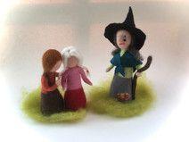 Hexe,Hansel und Gretel. Gefilzt.Waldorf.Märchen