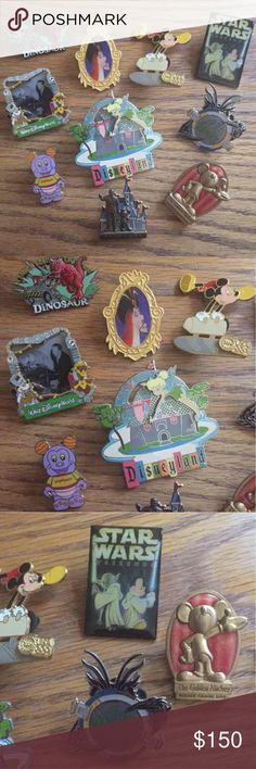 HOUR SALE! 10 Limited & Regular Disney Pin Includes 4 Special Edition pins, a Disney partner pin, a 50th Anniversary pin, and 4 more park pins! The Golden Mickey pin is from the cruise line and Alien Encounters is no longer a ride. Looking to sell all at once! Disney Other