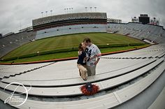 One of our engagement pics (taken by @Claire Drummond) in Jordan Hare Stadium. WDE! Aww!