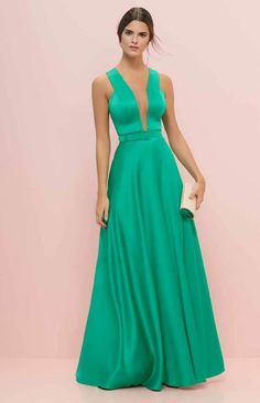 vestido-de-festa-verde sugestão para madrinhas de casamento no campo