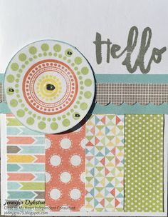 """jd designs: CTMH Zoe """"Kill-a-Kit"""" process -- Day #2: Hello card #ctmhzoe"""