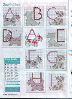 SCOTTIE ABC'S cross stitch