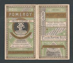 Pomeroy Truss Co Orthopedic Surgical Instruments 4 Panel Trade Card Folder | eBay