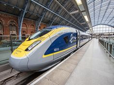 Take the Eurostar train from France to England through the Chunnel (the tunnel under the English Channel) Train Tracks, Train Rides, France Train, Uk Rail, Rail Europe, High Speed Rail, Rail Transport, Train Service, Train Pictures