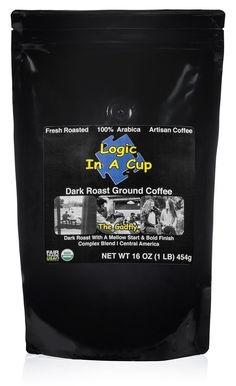 Super Strength Dark Roast Ground Coffee Certified Organic & Fair Trade by Logic In A Cup Beans from Central America Enjoy a Fresh Mug of Coffee at Home The Gadfly (1 lb)