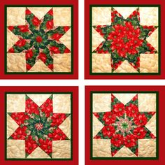 Christmas quilt blocks | The Pattern is from Bethany Reynolds Magic Stack N Whack which came ...