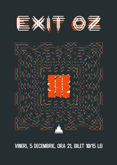 Exit Oz live @Moszkva Cafe #Oradea, 5 decembrie 2014. Poster design by George Staicu