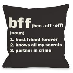 BFF Definition Throw Pillow