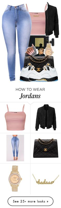 """""""C H A N E L"""" by kickinback-andvibin on Polyvore featuring WearAll, Chanel, LE3NO, Rolex, NIKE and Kris Nations"""