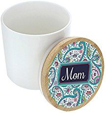 Mothers Day Gifts for Mom Birthday Gift Cursive Mom Gift Seal Pot Decorative Jar Decor Mom