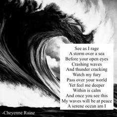 Ocean poem poetry storm black and white wave rage love sea water big