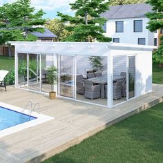 Independent exterior 24 Haverdal Leisure Even though old in notion, the pergola continues Backyard Plan, Backyard Patio Designs, Pergola Designs, Outdoor Rooms, Outdoor Gardens, Outdoor Gym, Door Protection, Outside Room, She Sheds