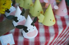 Printable Party Hats - Farm Animal Birthday Party - Cow Hat - Pig Hat - Chick Hat on Etsy, $7.78 AUD