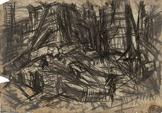 Title: Demolition of YMCA building, London, no. 2 Work Date: 1970 Category: Works on Paper (Drawings, Watercolors etc.) Materials: Charcoal on paper Size: h: x w: in / h: x w: cm Style: Expressionism Leon Kossoff, Expressionist Portraits, We Built This City, Joseph Mallord William Turner, Artist Sketchbook, Gesture Drawing, Paper Drawing, Urban Sketching, Original Artwork
