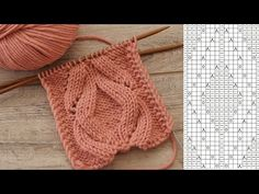 Knitting Videos, Knitting Charts, Baby Knitting Patterns, Knitting Stitches, Knitting Designs, Filet Crochet, Knit Crochet, Cool Diy Projects, Cable Knit