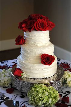 This is the red velvet wedding cake I made for our wedding. Very proud of it. =)