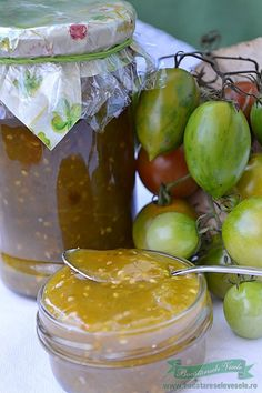 Dulceata de Gogonele Canning Pickles, Jam And Jelly, Romanian Food, Lebanese Recipes, Canning Recipes, Preserves, Good Food, Food And Drink, Homemade