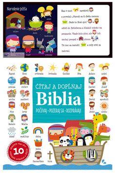 Táto zbierka obsahuje najznámejšie biblické príbehy zo Starého i Nového zákona. Klasické texty sú prerozprávanie pre deti pútavou formou, ktorá ich pomocou kombinácie textu a obrázkov vťahuje do príbehov a zapája do čítania. Ilustrované kľúčové slová deťom pomáhajú pri pochopení. #biblia #deti #kniha #ilustrovanabiblia #staryzakon #novyzakon New Testament, Egypt, Comics, Bible, Cartoons, Comic, Comics And Cartoons, Comic Books, Comic Book