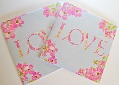 Peonie Cole Love Peony Valentines Heart Card by textile designer Catherine Beaumont