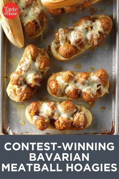 Contest-Winning Bavarian Meatball Hoagies Easy Delicious Recipes, Unique Recipes, Yummy Food, Meatball Recipes, Crockpot Recipes, Crock Pot Meatballs, Delicious Magazine, Soup And Sandwich, Cooking Light