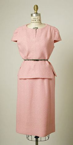 Dress Design House: House of Balenciaga (French, founded 1937) Designer: Cristobal Balenciaga (Spanish, Guetaria, San Sebastian 1895–1972 Javea) Date: 1960–65 Culture: French Medium: wool, leather