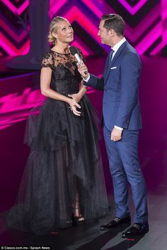 Chat: The stunning actress was interviewed on stage at the event for a department store...