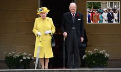 The monarch stood solemnly with her husband Prince Philip by her side as she led the thousands of guests at her Buckingham Palace garden party in the tribute. Duchess Of York, Duke And Duchess, Duchess Of Cambridge, Manchester Attack, Prince Philip Mother, Prince Phillip, Princess Eugenie, Prince And Princess