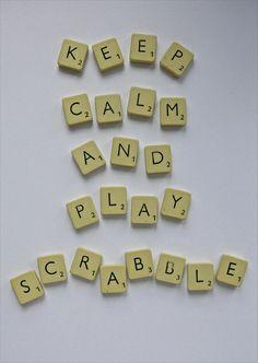 Keep calm and play scrabble. #keep_calm #scrabble